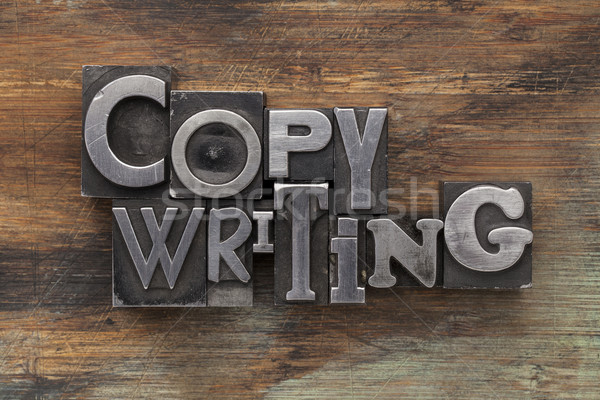 Stock photo: copywriting in metal type blocks