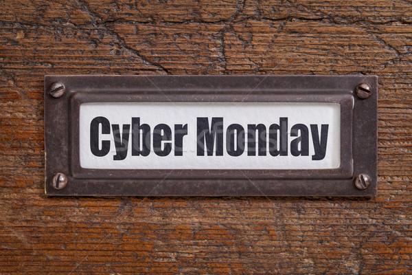 Cyber Monday - file label Stock photo © PixelsAway