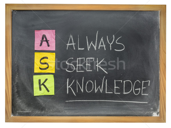always seek knowledge - ASK Stock photo © PixelsAway