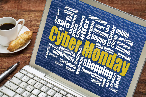 Stock photo: Cyber Monday online shopping