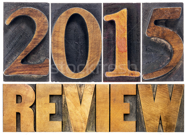 review of 2015 year typography Stock photo © PixelsAway