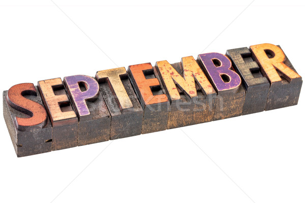 September month in wood type Stock photo © PixelsAway