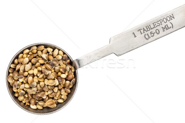 hemp seeds on measuring spoon Stock photo © PixelsAway