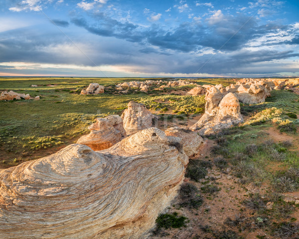 Arena arroyo naturales mojón arenisca Wyoming Foto stock © PixelsAway