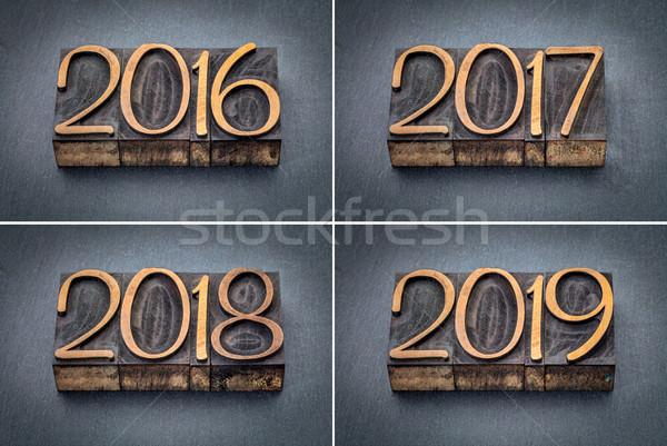 year 2016, 2017, 2018 and 2019 set Stock photo © PixelsAway