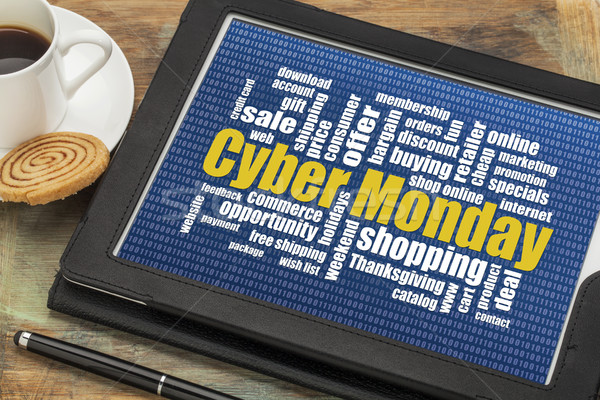 Stock photo: Cyber Monday online shopping concept