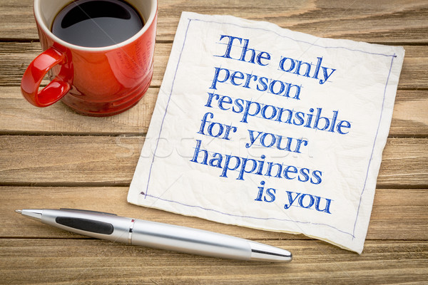 You are responsible for your happiness Stock photo © PixelsAway