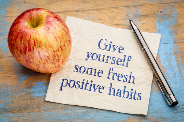 Give yourself some fresh positive habits Stock photo © PixelsAway