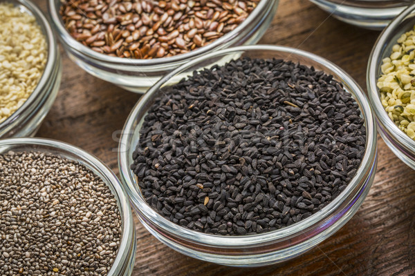 black cumin seeds in a bowl Stock photo © PixelsAway