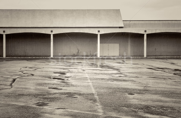 empty parking lot of a shut down mall Stock photo © PixelsAway
