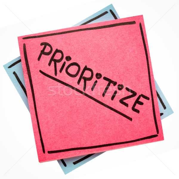 prioritize advice or reminder on sticky note Stock photo © PixelsAway