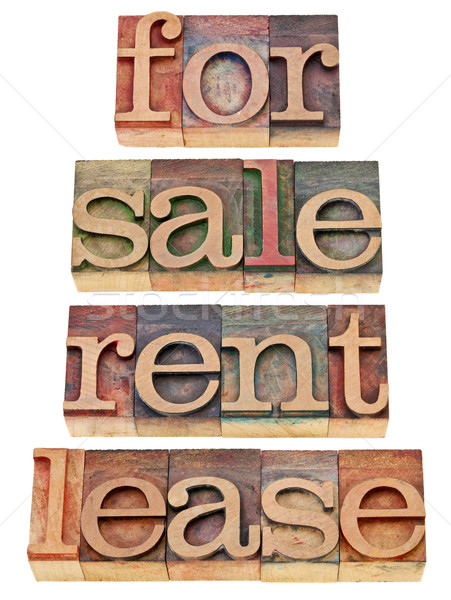 for sale, rent, lease Stock photo © PixelsAway
