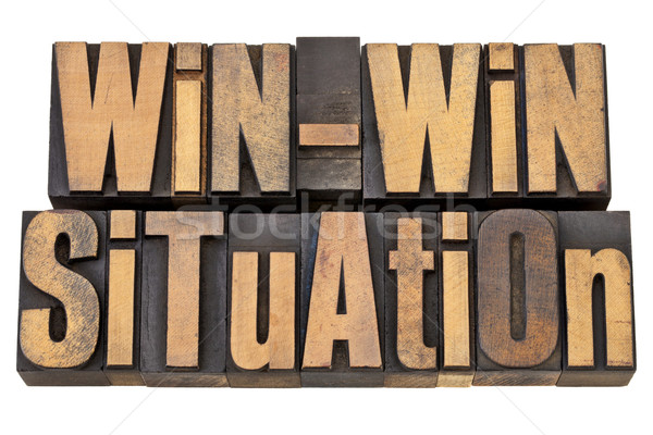 win-win situation in wood type Stock photo © PixelsAway