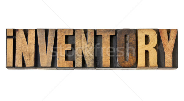 inventory word in wood type Stock photo © PixelsAway
