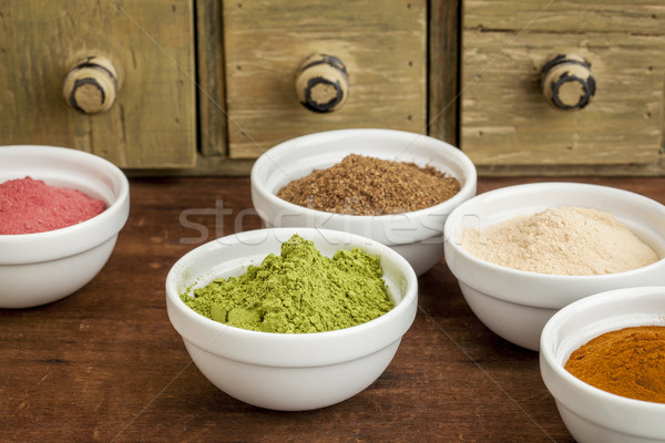 fruit and leaf nutrition powders Stock photo © PixelsAway