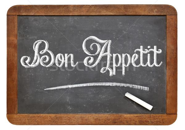 Bon Appetit on blackboard Stock photo © PixelsAway