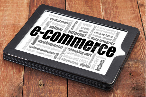 Stock photo: e-commerce word cloud