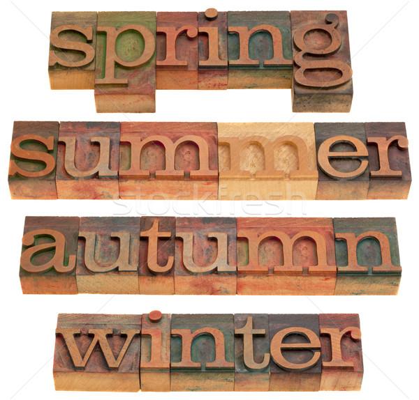 Wiosną lata jesienią zimą cztery pory roku vintage Zdjęcia stock © PixelsAway