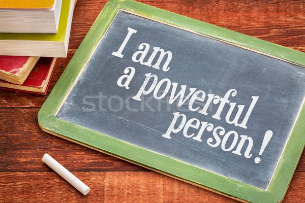 Positive affirmation words on blackboard Stock photo © PixelsAway