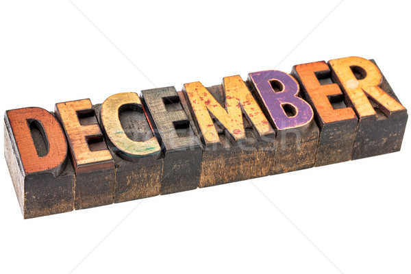 December month in wood type Stock photo © PixelsAway