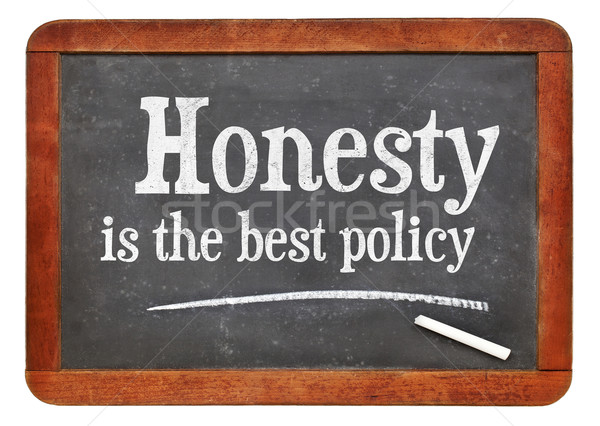 Honesty is the best policy proverb Stock photo © PixelsAway