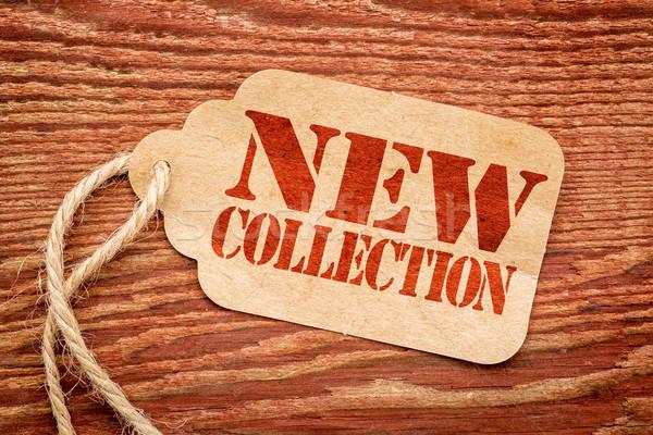 Nieuwe collectie teken prijs tag Rood Stockfoto © PixelsAway