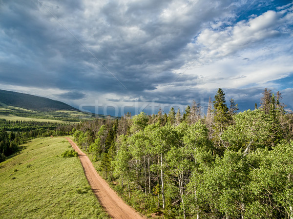 Colorado backcountry road aerial view Stock photo © PixelsAway