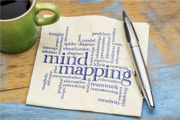 mind mapping word cloud Stock photo © PixelsAway
