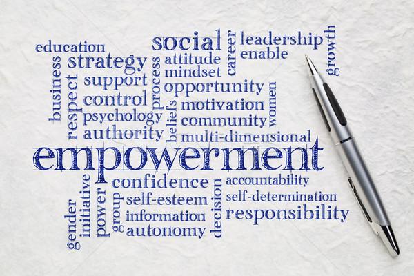 empowerment word cloud on paper Stock photo © PixelsAway