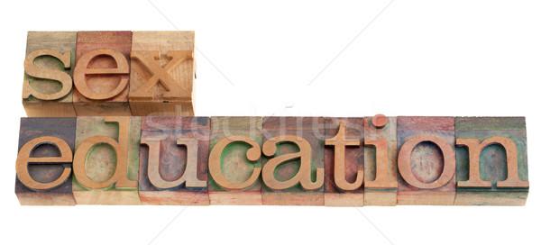 Sesso istruzione titolo vintage legno Foto d'archivio © PixelsAway