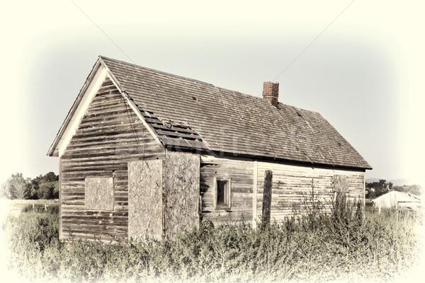 古い 捨てられた ファーム 家 砦 レトロな ストックフォト © PixelsAway