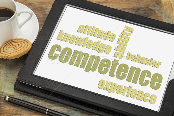 competence word abstract on a tbalet Stock photo © PixelsAway