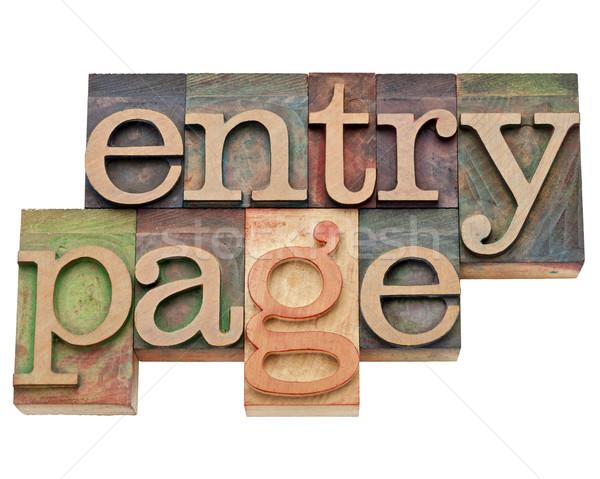 entry page - internet concept  Stock photo © PixelsAway