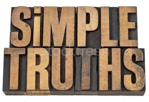 Simple verdad texto madera tipo aislado Foto stock © PixelsAway