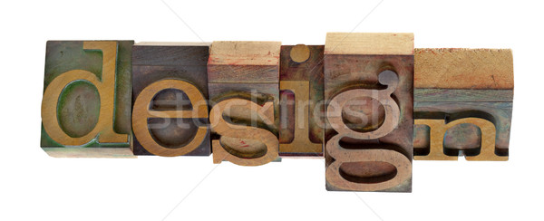 Design impression blocs mot vintage bois Photo stock © PixelsAway