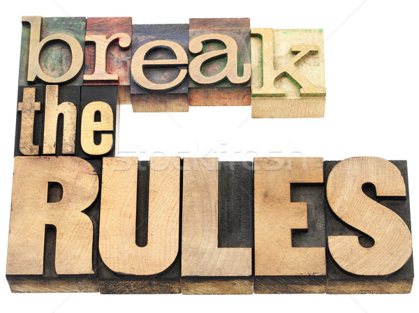 break the rules Stock photo © PixelsAway