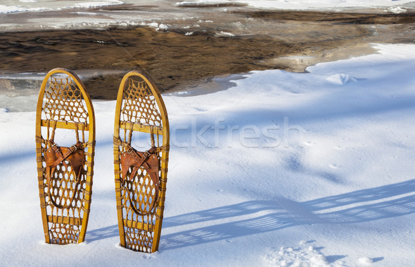 classic Bear Paw snowshoes Stock photo © PixelsAway