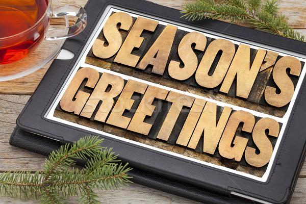 Stock photo: season greetings typography