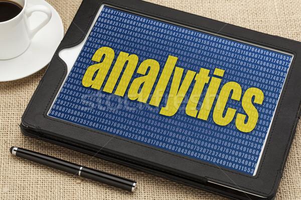 digital tablet with analytics word Stock photo © PixelsAway