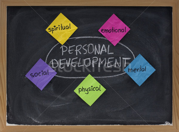 personal development concept on blackboard Stock photo © PixelsAway