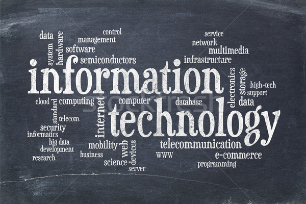 information technology word cloud Stock photo © PixelsAway