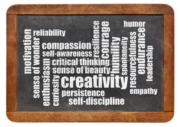 personal qualities word cloud Stock photo © PixelsAway