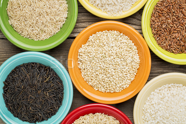 variety of rice grains  Stock photo © PixelsAway