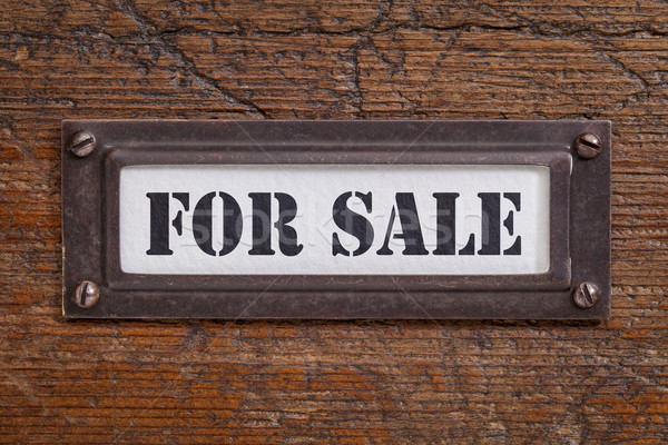 for sale - file cabinet label Stock photo © PixelsAway