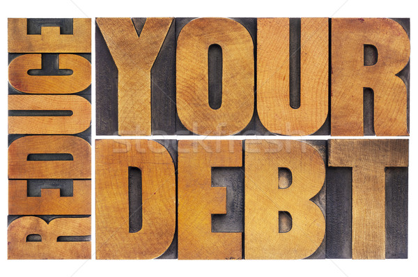 reduce your debt  Stock photo © PixelsAway