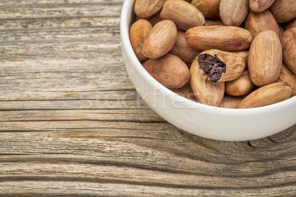 Greggio cacao fagioli ciotola Foto d'archivio © PixelsAway