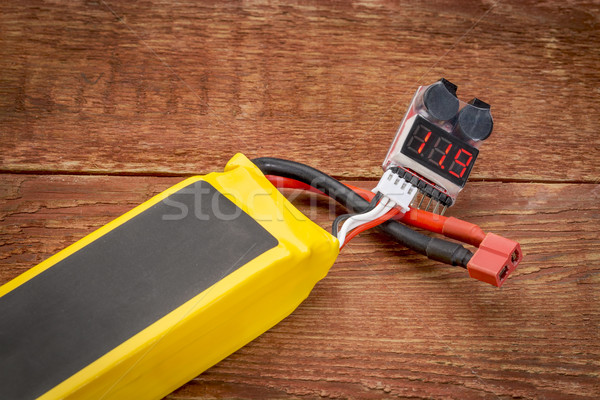 Testen lithium batterij lip digitale voltage Stockfoto © PixelsAway