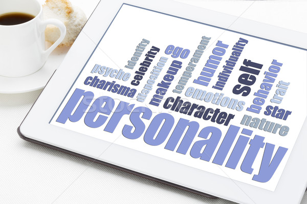 personality word cloud on tablet Stock photo © PixelsAway