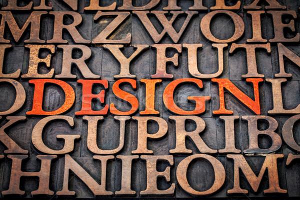 дизайна древесины тип слово Vintage Сток-фото © PixelsAway