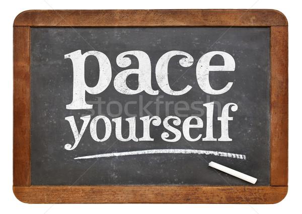 ペース あなた自身 アドバイス 黒板 ヴィンテージ リラックス ストックフォト © PixelsAway